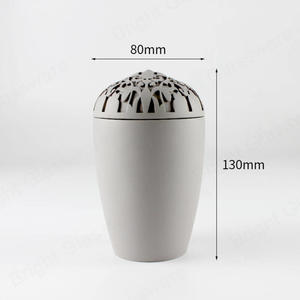 Grey Concrete Candle Container With Decoration Lid In Shenzhen