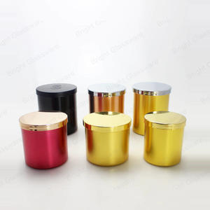 Custom Logo Colored Aluminum Candle Cup Jar For Candle Making With Metal Lids In Shenzhen