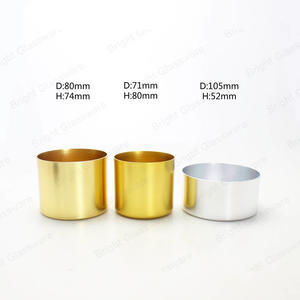 brass,copper aluminium candle jar gold for home/wedding/christmas decoration