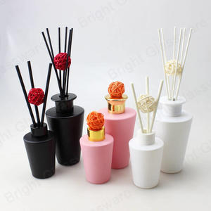 200ml 100ml fragrance oil perfume cone reed diffuser glass bottle with sticks for home air freshener
