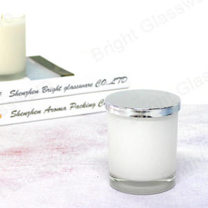 Electroplating Color Silver Candle Caps,81mm/82 Mm Metal Lids For Candle Jars