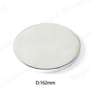 Luxurious Mirror Finished Silver Large Size 162mm Round Metal Candle Lid For Candle Jar