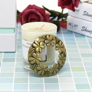 Wholesale Candle Accessory Set Round Golden Copper Plating Candle Zinc Alloy Lid