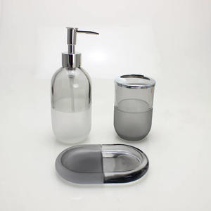soap dispenser bathroom refillable acrylic lotion pump bottle glass bathroom luxury accessories