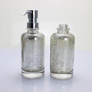 empty hand wash glass bottle liquid soap shampoo glass bottle with lotion pump