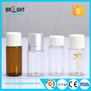 10ml 15ml clear & amber wide mouth PET plastic reagent bottle laboratory with screw cap