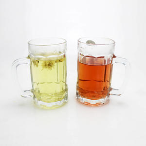 Classical Engraved Juice Cup Transparent Thickened Sublimation Glass Beer Mug