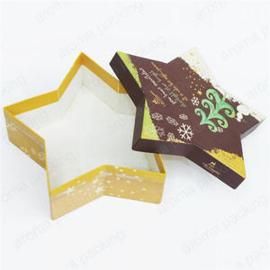 custom star/christmas trees shape printed chocolate packaging box,candy/cookie boxes packaging for Christmas /Valentine's Day