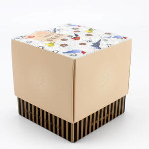 High Quality Square Food Grade Kraft Paper Nuts Packaging Box Gift With Printed Logo