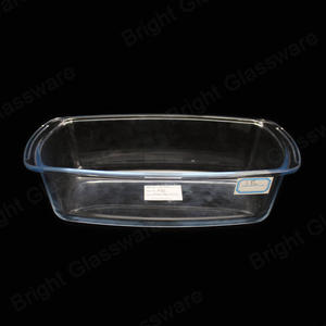 1.8L Kitchen Bread/loaf Baking Tray Borosilicate Glass bakeware Glass Bake Pan