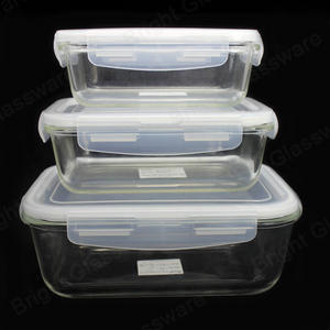 wholesale pyrex heat resistant microwave oven glass bakeware sets with lids