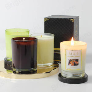 Custom Scented Candles With Different Aroma Fragrance In The Glass Jars