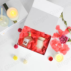 Wholesale Custom Luxury Home Fragrance Scented Candle Reed Diffuser Set With Sticks And Packaging Box