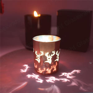Custom Glass Candle Container Christmas Candle Vessels With Laser Logo