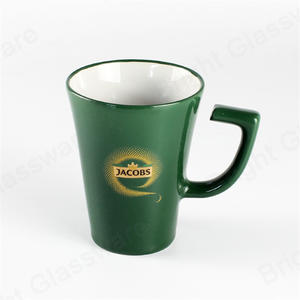 Reusable Porcelain  Tea Milk Cappuccino Coffee Cup Ceramic Mugs With Logo Customized