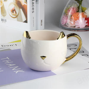 drinkware 3D animal cartoon mark milk coffee cup creative cute ceramic mug cat for birthday gift