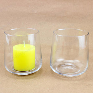 High Quality Vintage Empty Blown Clear Glass Candle Jar For Scented Candle