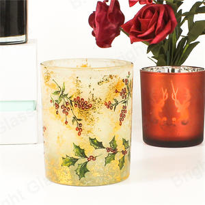 Custom High Quality Different Scented Candle In Luxury Glass Candle Jar