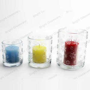 Christmas decor set of 3 clear snowflake votive candle holders