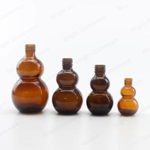 10ml 20ml 30ml 50ml glass gourd cucurbit shape bottle for essential oil customized logo printing