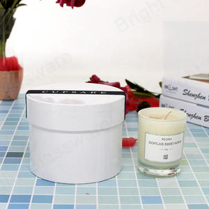 round white tube box for candle jar gift packaging