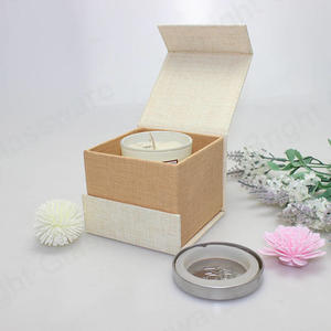 Flap Lid Packaging Cardboard Bespoke Magnetic Closure Candle Jar Gift Box
