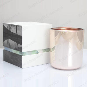 custom print logo luxury rigid cardboard square candle box for glass candle jar