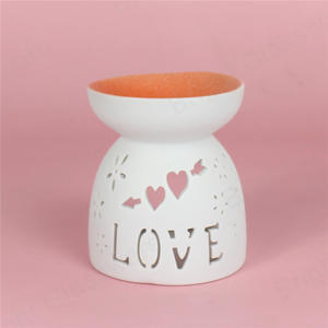 Valentine's Day wax warmer essential oil burner ceramic candle warmer with logo