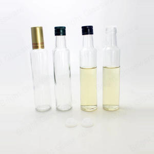 250ml Transprarent Olive Oil Glass Bottles With Cap Wholesale