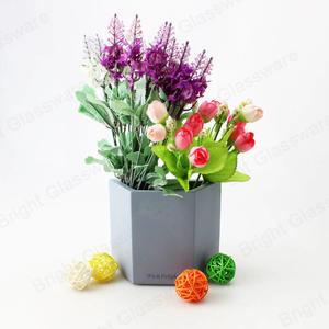modern design trapezoidal concrete cement flower pots for sale