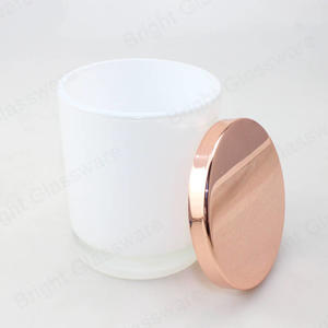 inside painted oxford opaque white medium jars with rose gold lid