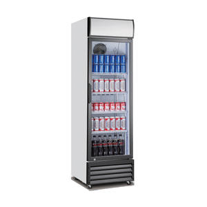 Single Door Upright Beverage Cooler Refrigerator