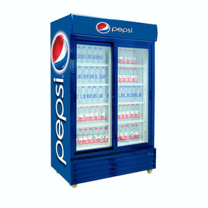 High Quality Glass Door Beverage Refrigerator with ISO certified