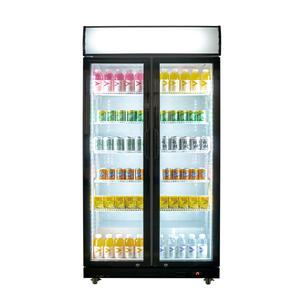 High Quality Upright Display Fridge with ISO certified