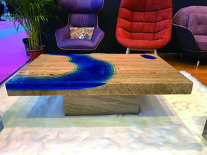 E03A Epoxy Resin River Wood Table