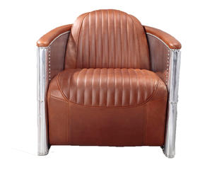 China Top Grain Single Seat Leather Sofa Manufacturer