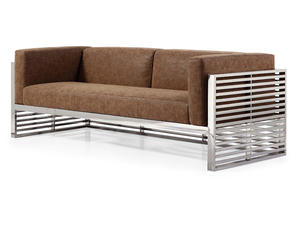S023 High Quality Three Seater PU Sofa