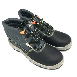 Black genuine leather safety shoes with CE ,Anti static construction waterproof safety shoes