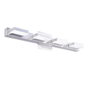 Mirrea 24in Modern LED Vanity Light Fixtures Stainless Steel