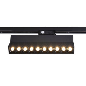 Mirrea 20W Dimmable Array LED Track Heads Black Painted