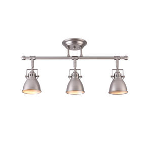 Mirrea 22in Complete LED Track Lights Kit 3 Lamp Brushed Nickel