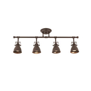 30in Industrial Track Lights Kit with 4 Lamp Oil Rubbed Bronze