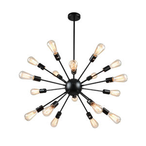 Mirrea Vintage Sputnik Lights 18 Lights Black Painted