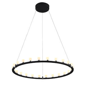 Dimmable LED pendant light with 24Lights in Round Shape