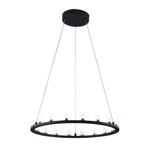 Dimmable LED pendant light with 18 Lights in Round Shape