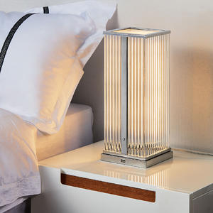 The bedside square table lamp is a green environmental protection light source.