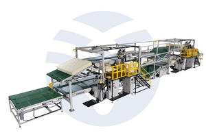 Double-layer Automatic Edge Banding Machine Production Line YT-WB-06