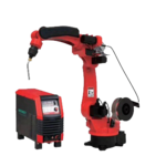 China 1800mm arm reach welding robot manufactures with 350A welding source