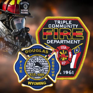 High Class Custom-Made Firefighter Patch With Low MOQ