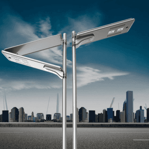 100W foldable all in one solar street light